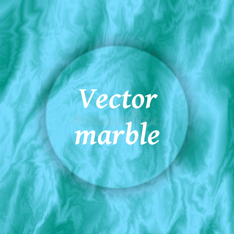 Abstract blue marble background. Marbling texture design for banner or poster with circle. Vector illustration. Abstract blue marble background. Marbling vector illustration