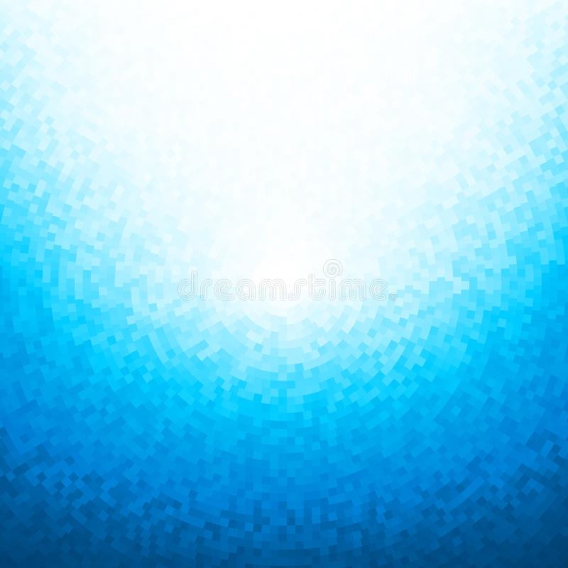 Abstract blue mosaic background stock illustration