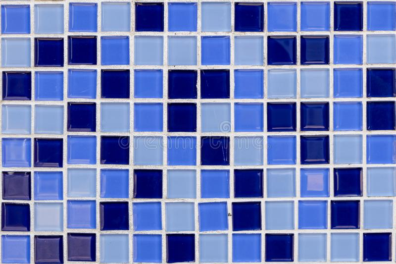 Abstract blue mosaic tiles for background.For Your Design, Templates, Postcards, Decoration stock photo