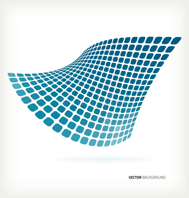 Download Abstract Blue Mosaic Wave Vector Background Stock Vector - Image: 31322648
