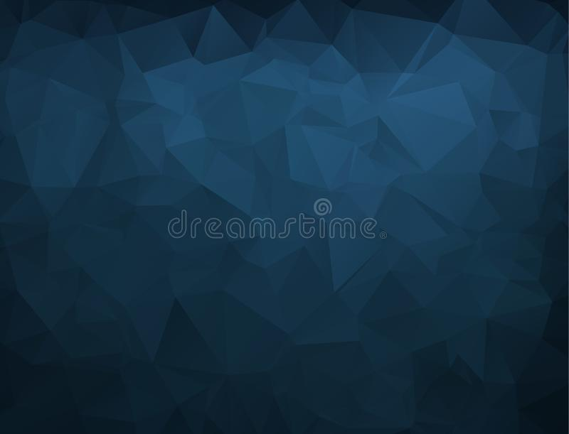 Abstract Blue navy dark Polygonal Mosaic Background, Vector. illustration, Creative Business Design Templates. Abstract Blue navy dark Polygonal Mosaic stock illustration