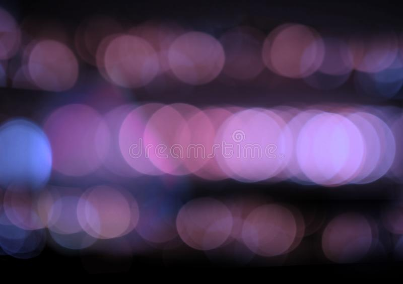 Abstract blue night bokeh background.  stock photo