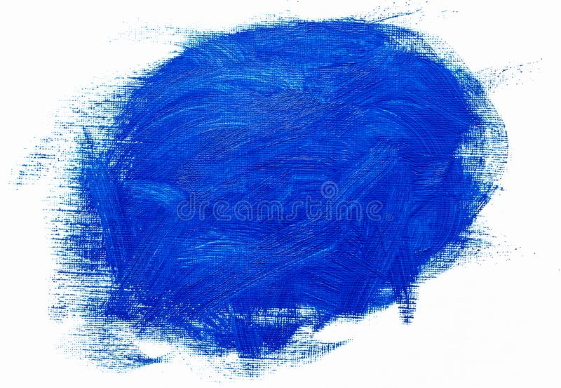 Abstract blue oil painting brush strokes royalty free stock photos