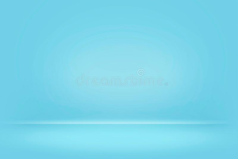 Abstract blue pastel blurred smooth background color gradient wall can used creative concept, royalty free stock images