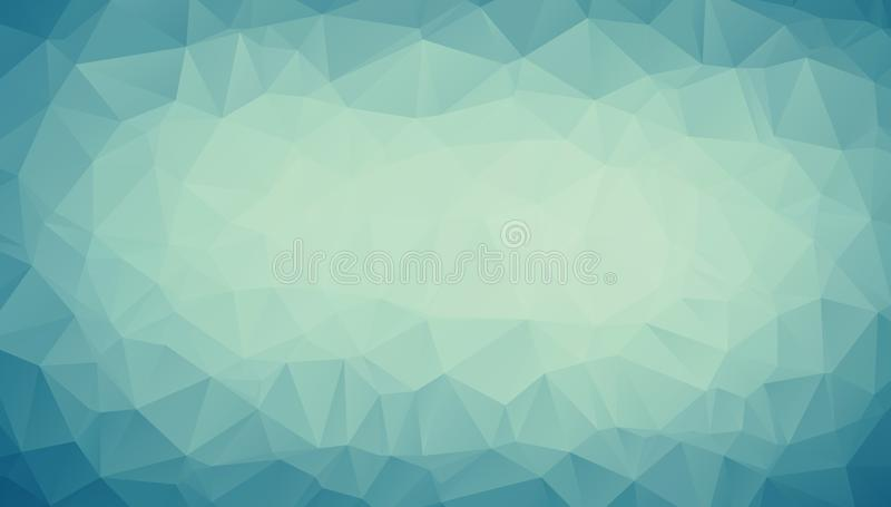 Abstract Blue pastel tone polygonal illustration, which consist of triangles. Geometric background in Origami style with gradient. royalty free illustration