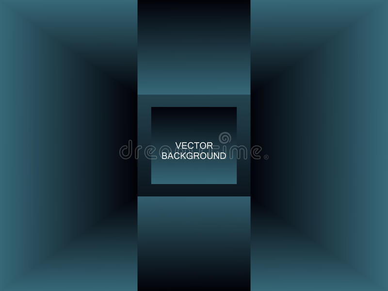 Abstract blue perspective background for design stock photo