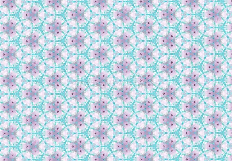 Abstract Blue Pink Color Flower Pattern Background