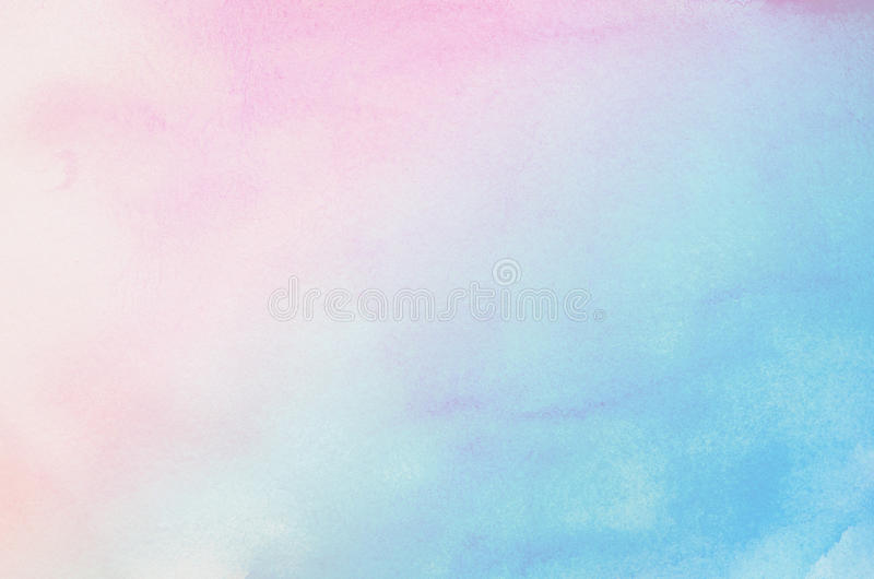 Abstract blue and pink pastel watercolor background stock illustration