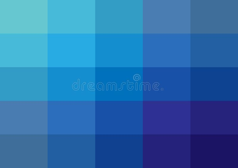 Abstract blue pixels square backgrounds design blur colored of blue royalty free illustration