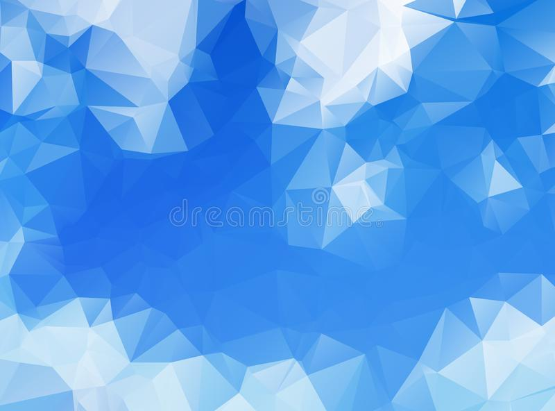 Abstract Blue Polygonal Mosaic Background, Creative Design Templates. Abstract blue polygon vector background. vector illustration