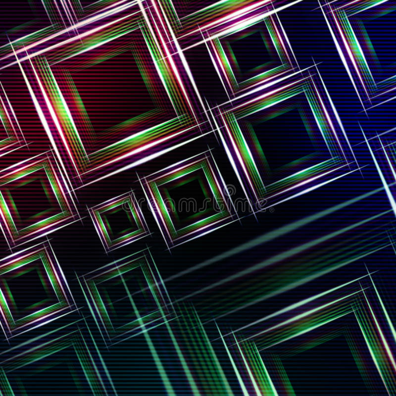Abstract blue purple background with green shining multicolored royalty free illustration