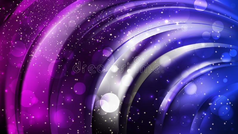 Abstract Blue and Purple Blurred Lights Background royalty free stock image