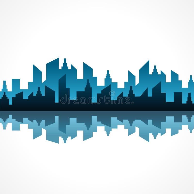 Abstract blue real estate background design stock illustration