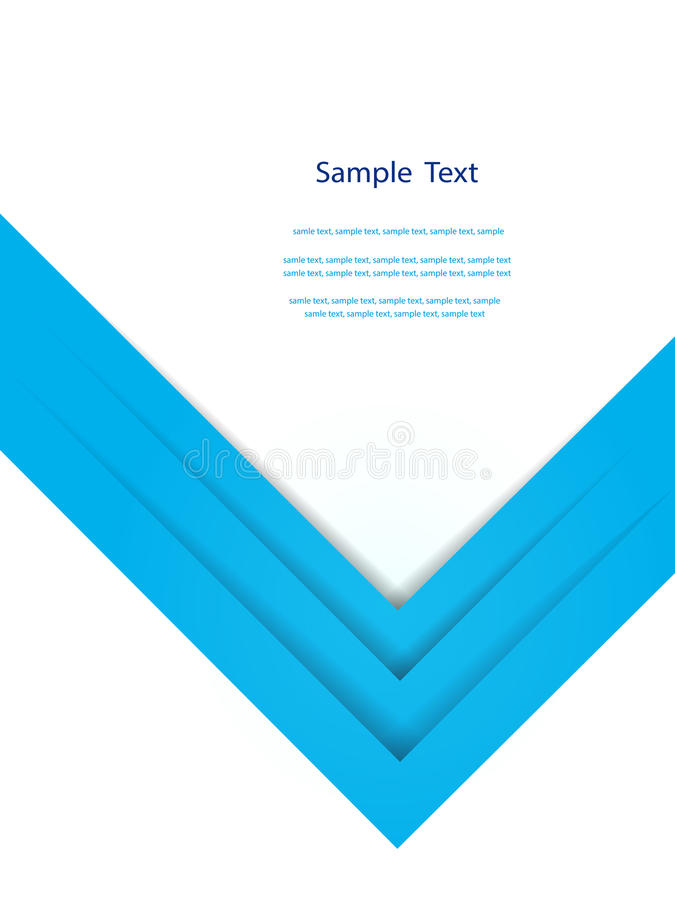 Abstract blue report cover template design. stock illustration