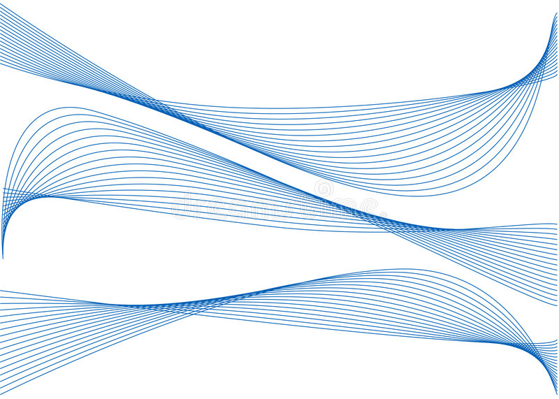 Download Abstract blue ribbons stock vector. Image of line, digital - 8210272