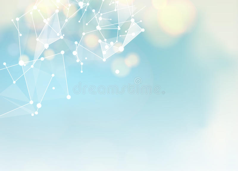 Abstract blue science background stock illustration