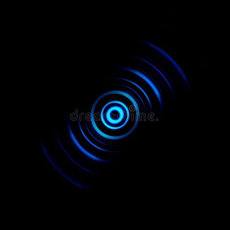 Abstract blue shutter aperture with lens effect background.  stock illustration
