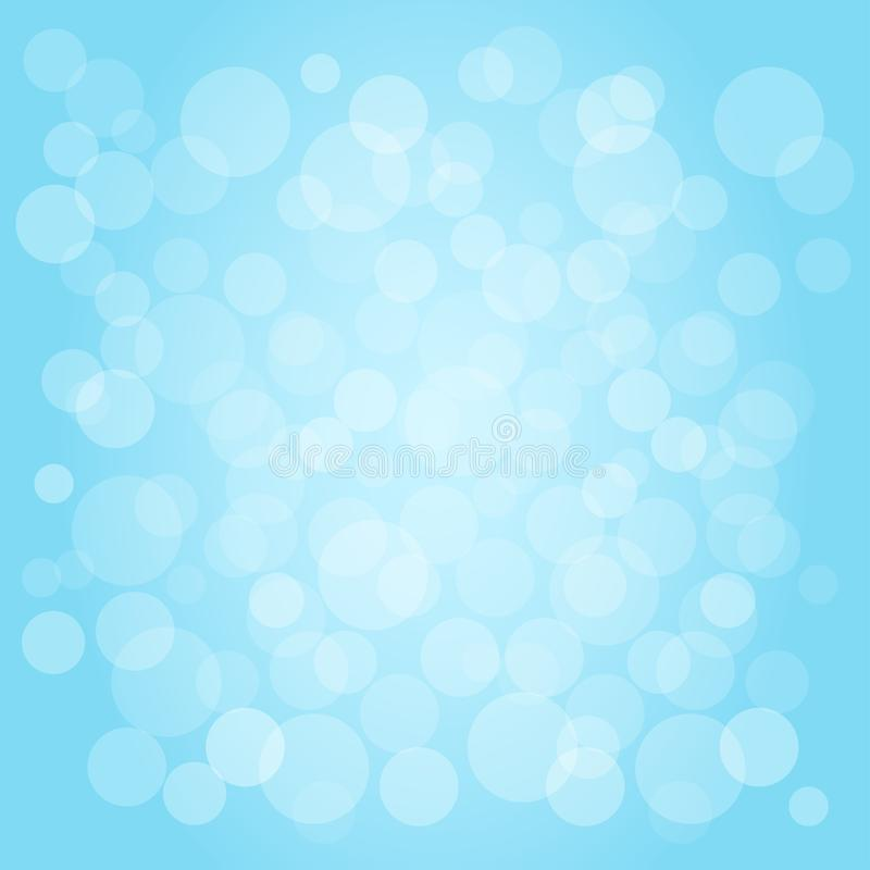 Abstract blue sky background with bubbles. Vector royalty free stock photography