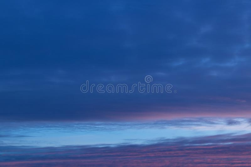 Abstract blue sky blurred background. Fantasy or relaxation concept. Galaxy and space design.  stock images