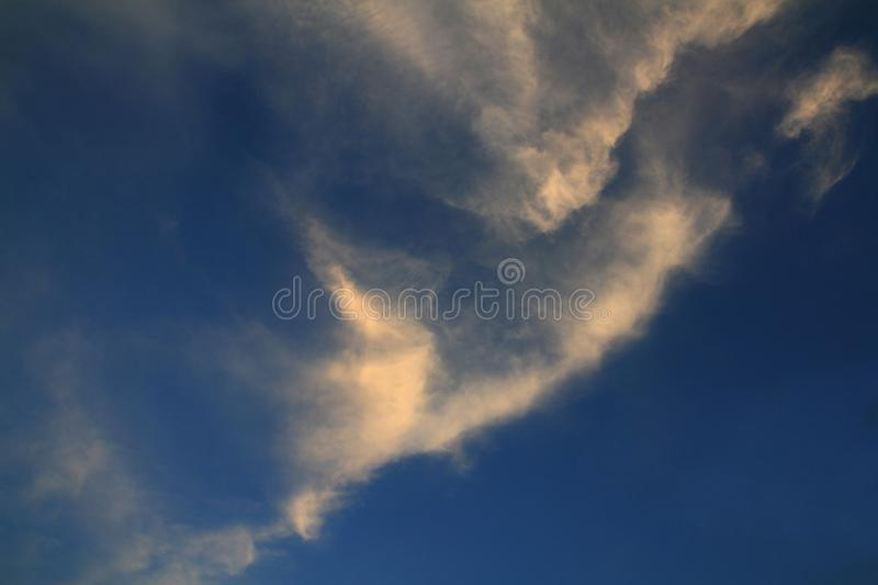 Abstract blue sky in the morning sunshine landscape good view royalty free stock images