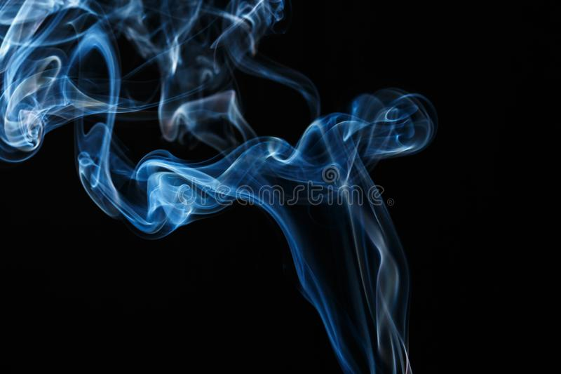 Abstract blue smoke blur detail art royalty free stock image