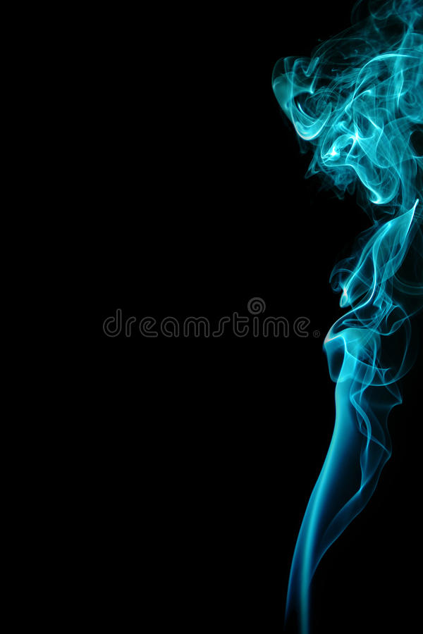 Abstract blue smoke royalty free stock image