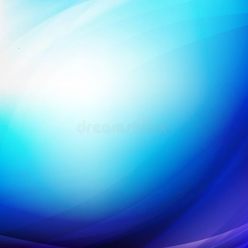 Abstract blue smooth flow background for modern design,. Illustration vector illustration