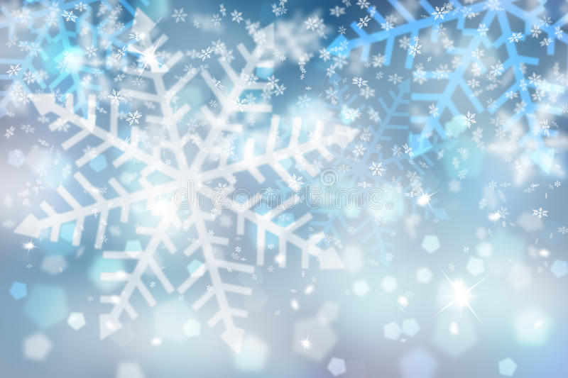 Abstract blue snowflake background vector illustration