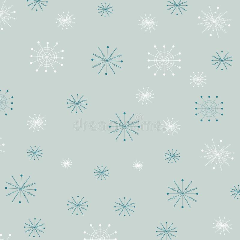Abstract Blue Snowflakes Tło, choinka snowfall vector ilustracja ilustracji