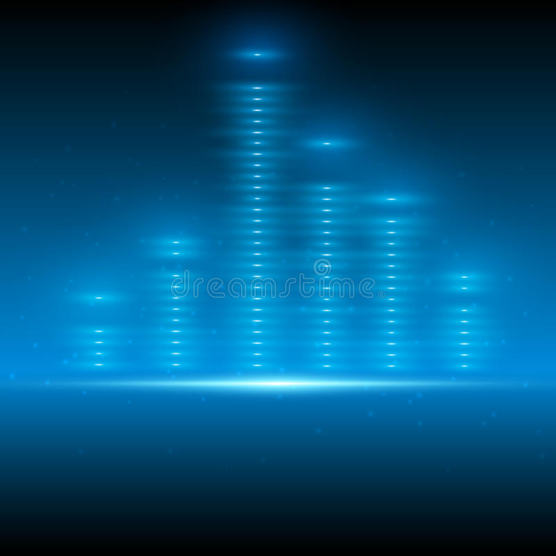 Abstract blue space vector equalizer stock images