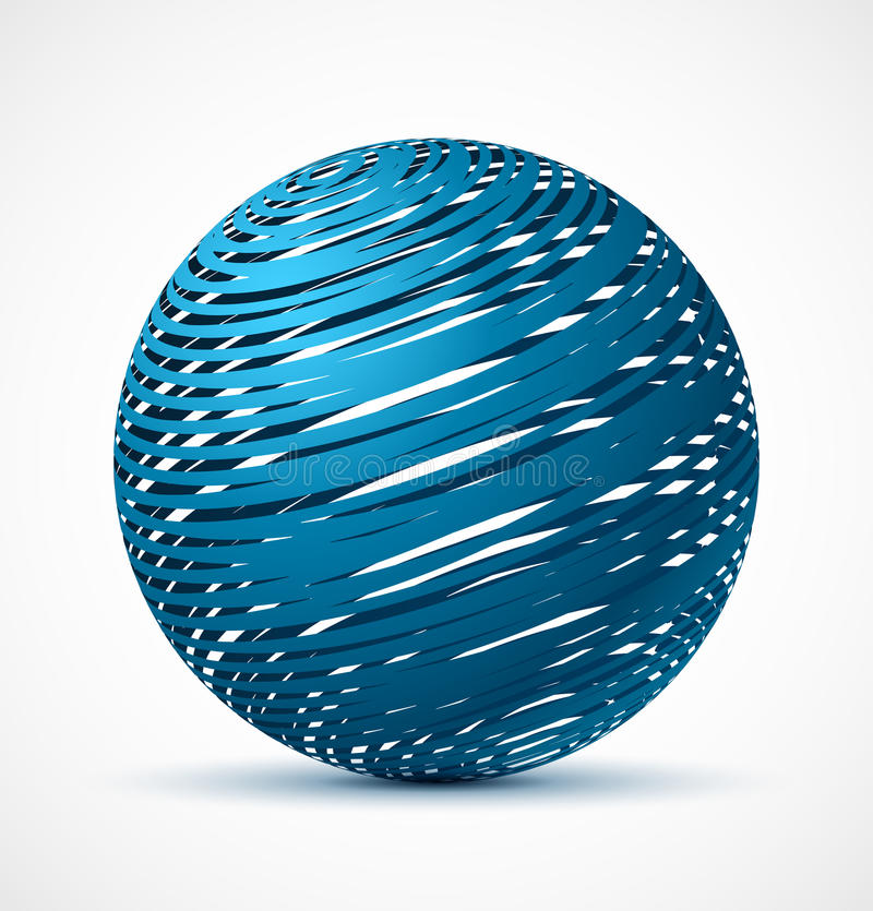 Free Abstract Blue Sphere With Realistic Shadow Royalty Free Stock Images - 39553879