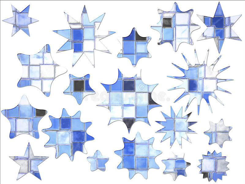 Download Abstract Blue Square Star Shaped Special Offer Stock Illustration - Image: 5927563