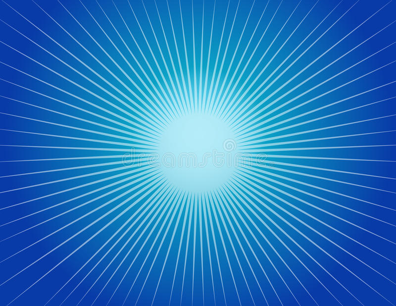 Abstract Blue Starburst Background vector illustration