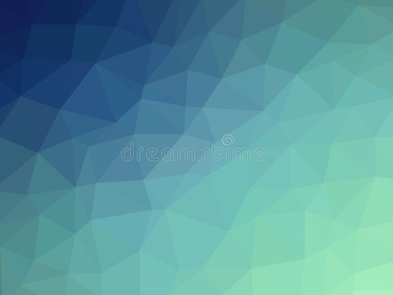Abstract blue teal gradient polygon shaped background stock illustration
