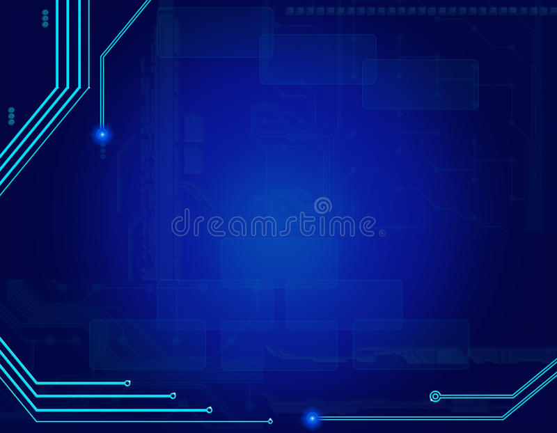 Download Abstract Blue Technology Background Stock Illustration - Image: 25234703