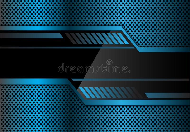 3d Blue Abstract Mesh Background Circles Stock Vektor: Abstract Blue Technology Banner On Metal Circle Mesh