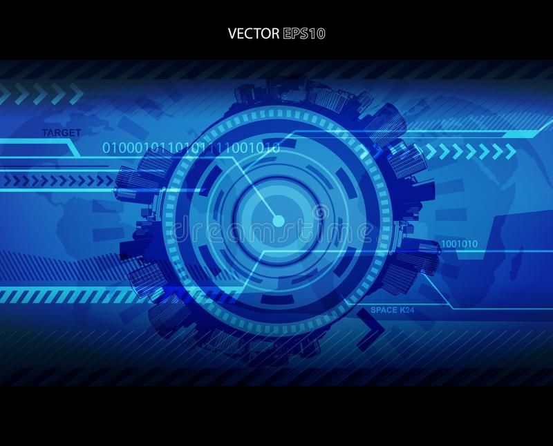 Download Abstract Blue Technology Illustration Stock Vector - Illustration of bright, abstract: 16247155