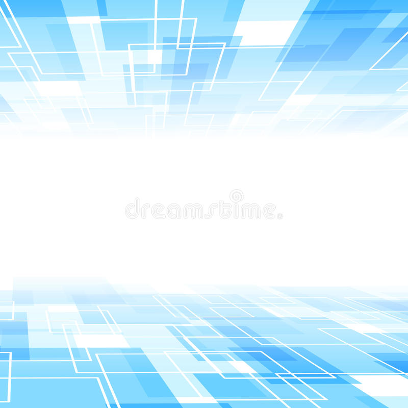 Abstract blue tile perspective background template. Clip-art stock illustration