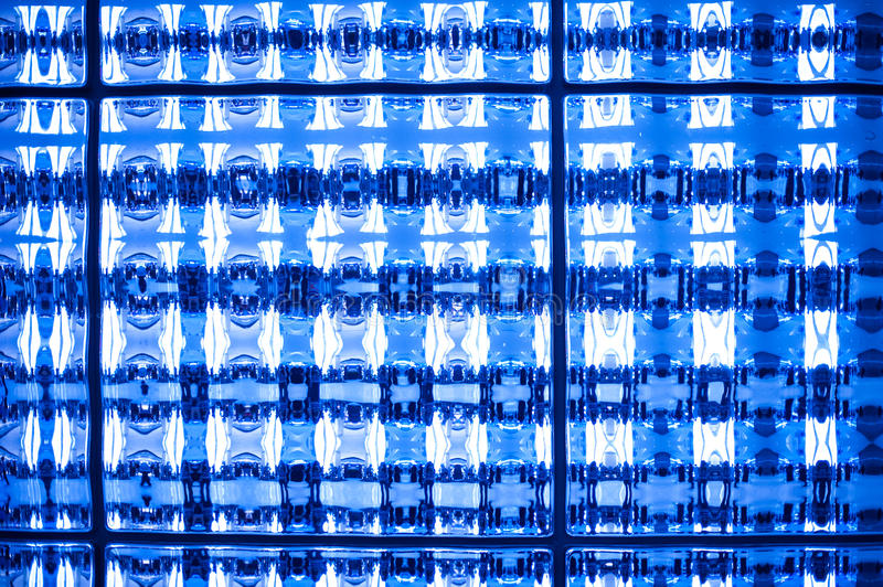 Abstract blue tone stained mosaic pixel texture wallpaper background stock image