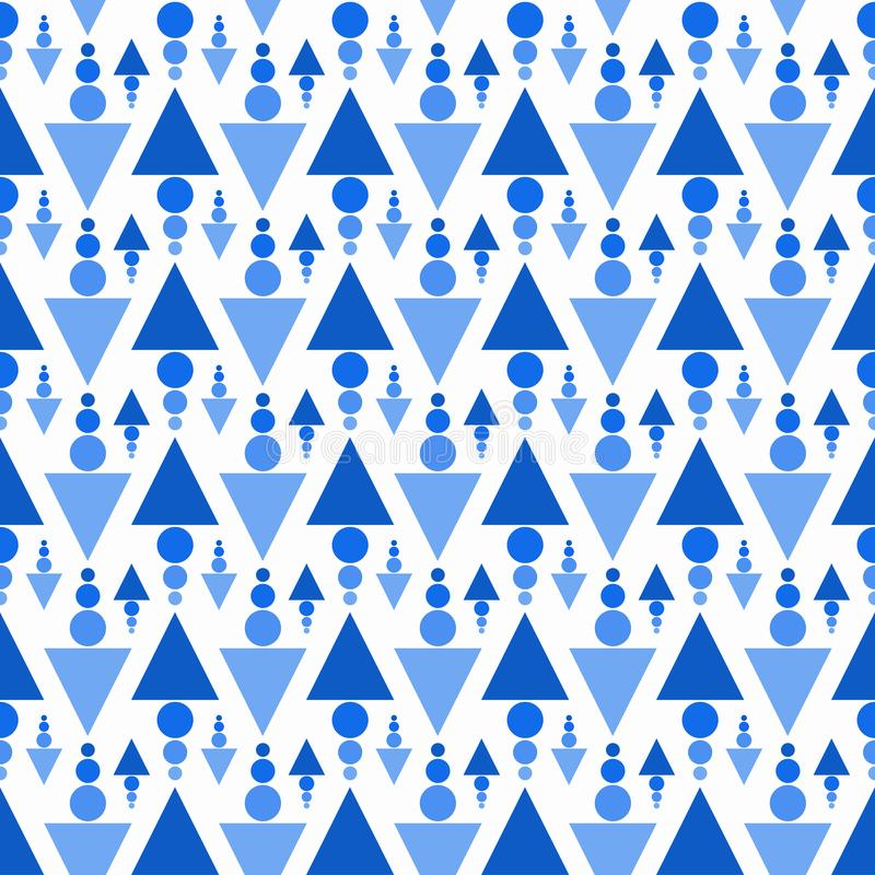 Triangles and balls seamless pattern royalty free illustration