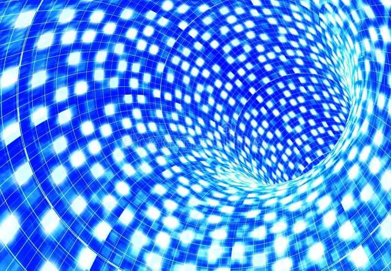 Download Abstract blue tunnel stock illustration. Illustration of bluish - 11774272