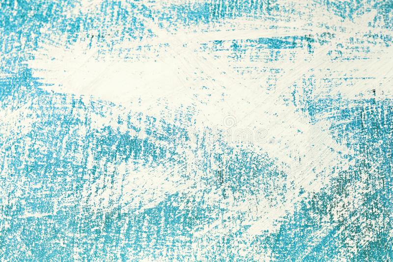 Abstract blue uneven surface painted with white paint, background, texture.  vector illustration