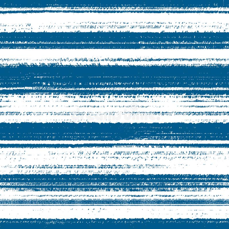 Seamless grunge pattern with lines. Abstract blue vector seamless pattern with lines and scratches stock illustration