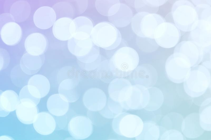 Abstract blue violet color blurred bokeh light / water reflection for background royalty free stock photos