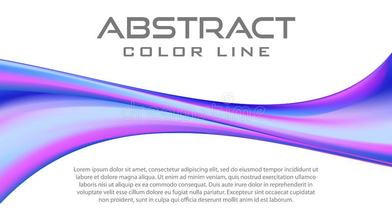 Abstract blue violet twisted line royalty free illustration