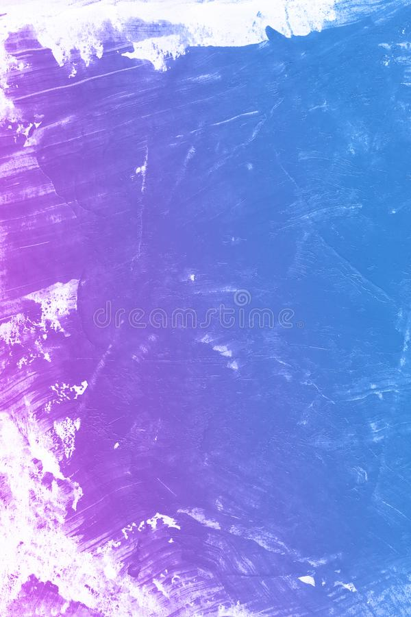 Abstract blue and violet watercolor art magic hand paint background. Abstract watercolor art hand paint background. Hand drawn beautiful color stock illustration