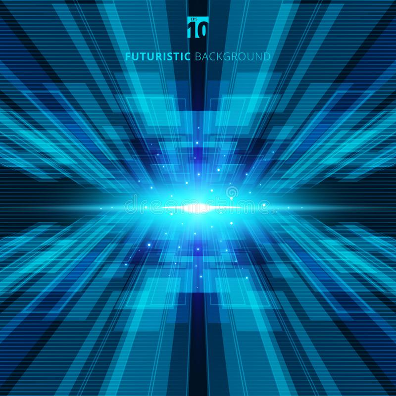 Abstract blue virtual technology concept futuristic digital back stock illustration