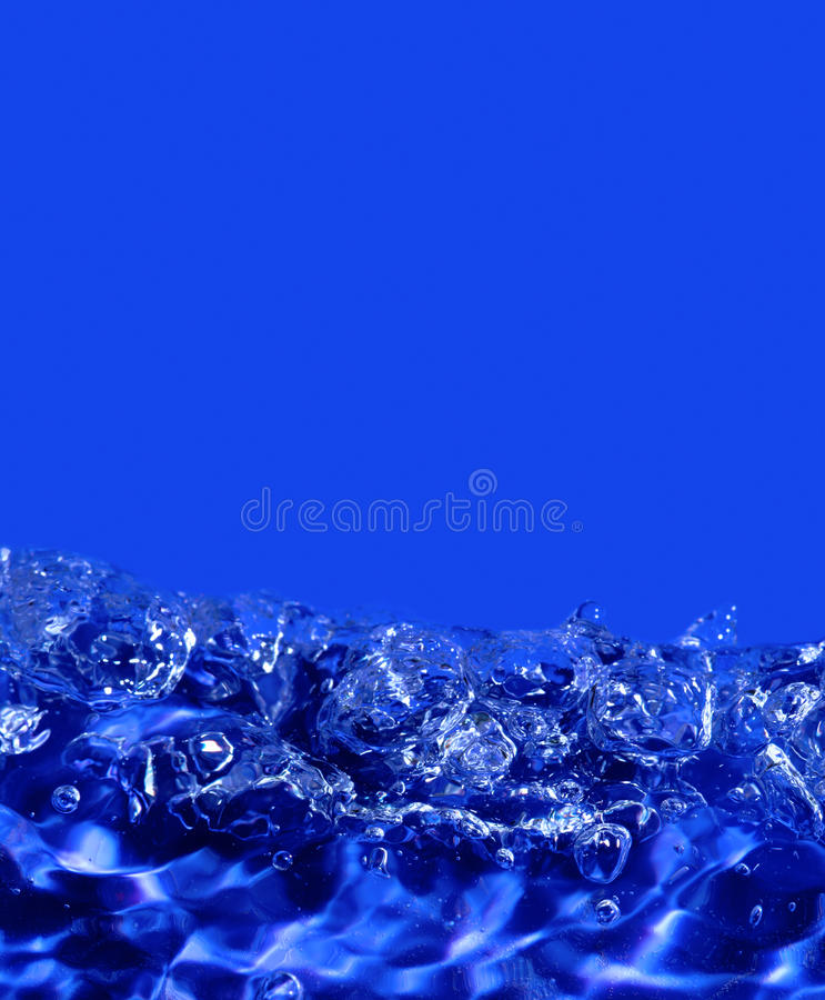 Abstract blue water stock photography