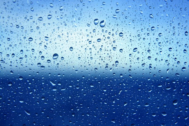 Download Abstract Blue Water Dropsoin Glass Background Stock Photo - Image: 11488450
