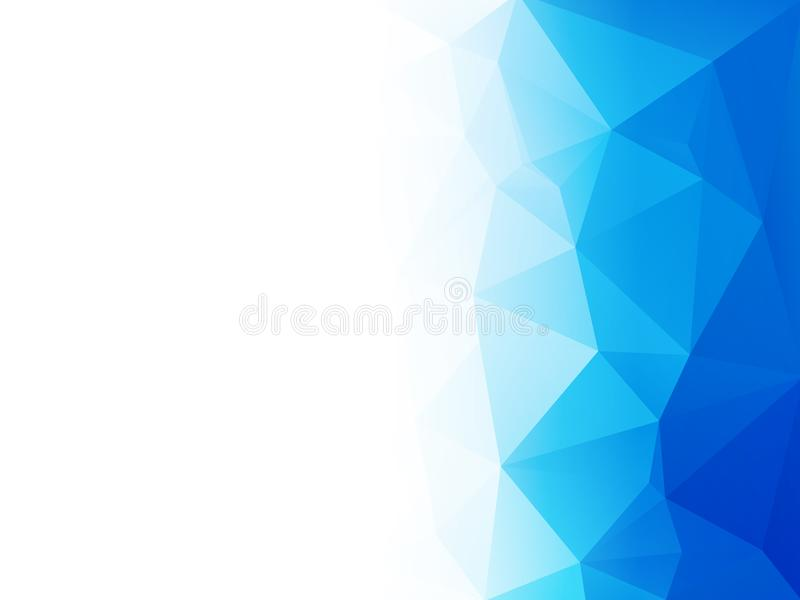 Abstract blue water low poly vector background stock illustration